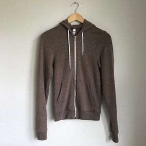American Apparel Tri-Blend zip up sweatshirt